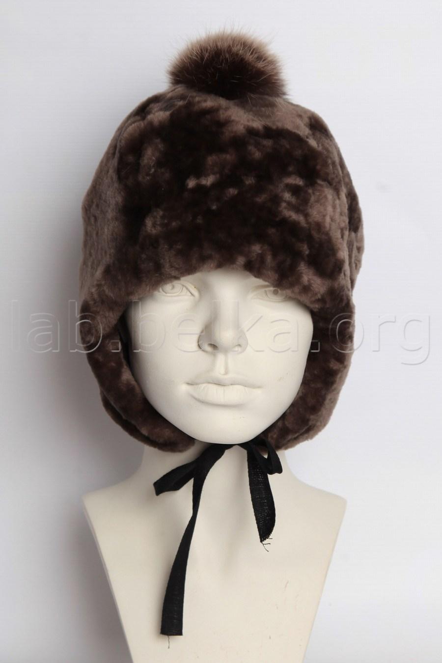 077c87eb Детская шапка из овчины в комбинации с песцом — Меховая фабрика ...